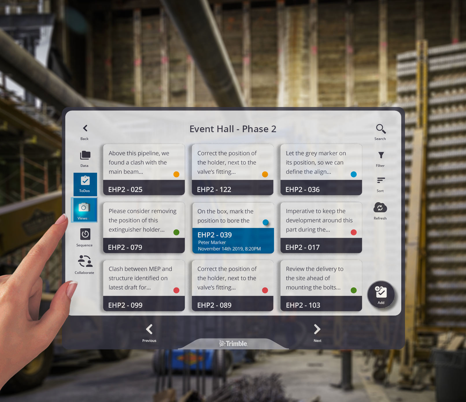 Quickly create to-do's for the office and field team in Connect for HoloLens